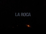 La Roca projected on the Rock of Gibraltar